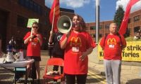 Πρώτη φορά απεργία στα McDonald's στην Βρετανία