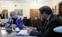 Η Λουτ μετέφερε στον πρόεδρο Αναστασιάδη εισήγηση για Τετραμερή